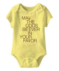 May the Odds Be Ever in Your Favor I NEED THIS and I don't have a baby!