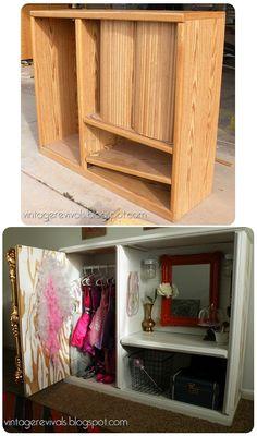 DIY dress up cabinet