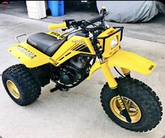1985 YAMAHA YTM200 TRI-MOTO tri moto THREE WHEELER DECAL KIT Blue see pics