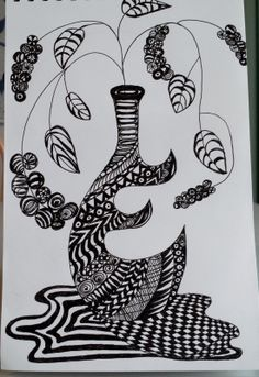 """A tangle based on my """"go to"""" doodle."""