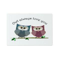 Owl always love cut cute Owls Art Cutting Board