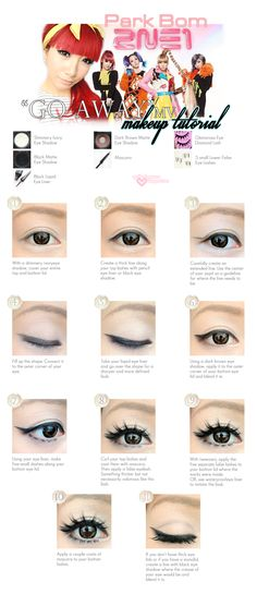 2NE1 makeup tutorial in English. From aprilfoolromance.blogspot.com