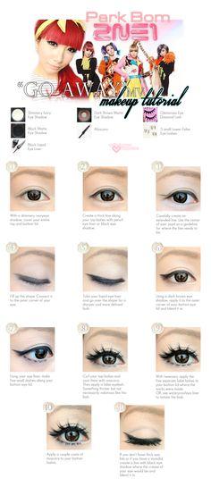 "April Fool Romance: makeup tutorial: Park Bom ""GO AWAY"" Japanese MV"