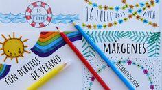 Nica Bernita Manualidades : IDEAS DE MÁRGENES para decorar cuadernos y libretas  Márgenes con DIBUJOS DE VERANO