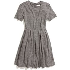 MADEWELL Sweatshirt Dress (445 BRL) ❤ liked on Polyvore featuring dresses, vestidos, tops, marled pepper, sweatshirt dress, full skirt, madewell dresses and madewell
