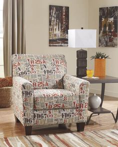 Deshan Accents Mango Wood Fabric Accent Chair