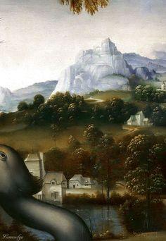Leonardo Da Vinci: Leda and the Swan (Francesco Melzi) (detail)