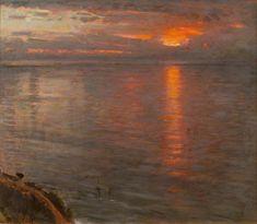 Albert Goodwin, Sunset.