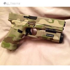 Glock in Multicam using Cerakote