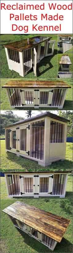 This stunning repurposed pallet dog kennel design is presented to craft and place in your garden area so that your lovely dog can enjoy and feel relaxed at the same place. This awesome pallets innovation will definitely provide your dog a feel of maximum protection as well as comfort in his place.