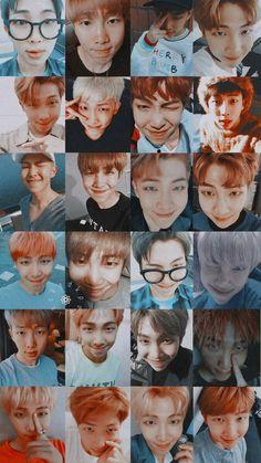 Collage of Kim Namjoon/ Rap Monster Jimin, Rapmon, Bts Bangtan Boy, Jungkook Hot, Bts Taehyung, Jung Hoseok, Kim Namjoon, Seokjin, Bts Rap Monster