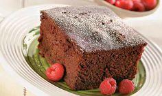 Bolo de chocolate sem gordura - 120kcal o pedaço. | Nutrição e saúde