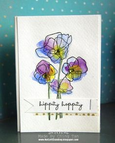 Hippity Hoppity Trio of Poppies by Ching - Cards and Paper Crafts at Splitcoaststampers