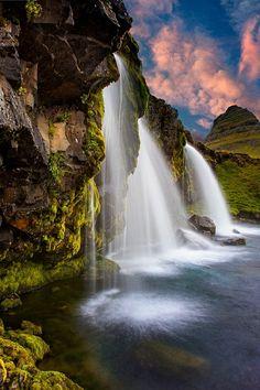Kirkjufellsfoss, Iceland. Just WOW! Find cheap flights to Iceland with WOW air (wowair.com) #iceland #wowair #travel