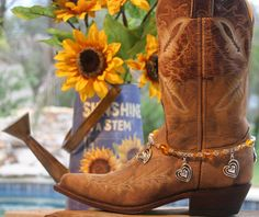 Boot Candy Sweetheart of the Rodeo in SUNFLOWER!