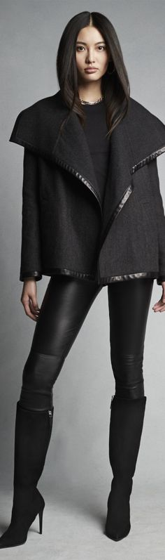 Chic Outerwear and Jackets from Ralph Lauren Black Label / BLACK LABEL DOUBLE-FACED-WOOL TALISA COAT
