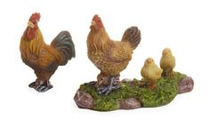 Miniature Rooster with Chickens
