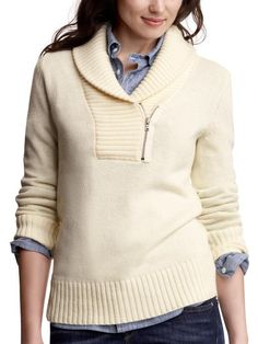 I am all about shawl collars, and this looks really cozy.