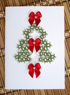 One of the prettiest tatted holiday tree treatments I have ever seen. Great job on the card!