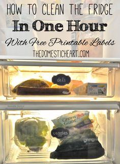 A Clean & Organized Fridge In 1 Hour {+ Free Printable Labels} - The Domestic Heart
