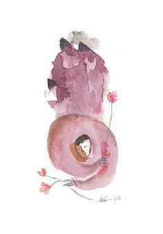 ´´ i grew flowers from my pain´´ - Vicky Alvarez Illustration