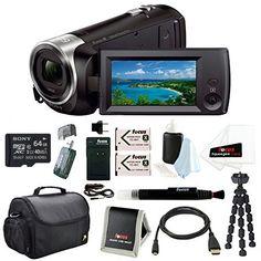 Sony HD Video Recording HDRCX405 HDR-CX405/B Handycam Camcorder (Black) + Son...