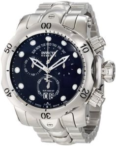 Invicta Men's 1538 Reserve Venom Chronograph Blue Dial Stainless Steel Watch for sale online Harry Winston, Patek Philippe, Tag Heuer, Cool Watches, Watches For Men, Men's Watches, Wrist Watches, Luxury Watches, Stainless Steel Watch