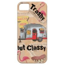 White Trailer Trash Cell Phone Case Cover iPhone 5 Cover