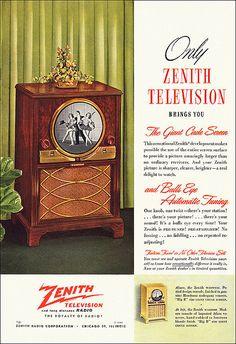 Zenith Television ad 1949