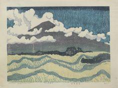 Hagiwara, Hideo  Summer Grass- Summer Clouds  Saru Gallery - Japanese prints & paintings