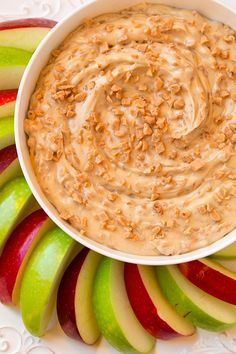 Toffee Apple Dip {3 Ingredients } from @cookingclassy