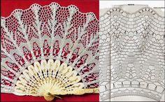 Crochet, for my soul! Crochet Diagram, Filet Crochet, Crochet Motif, Crochet Doilies, Crochet Patterns, Crochet Home, Crochet Crafts, Crochet Projects, Thread Crochet