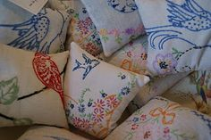 the cottage gals vintage doilies turn into sachets