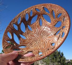 Leafy Bowl with Hand Carvings - Handmade Pottery by thewheelandi on Etsy https://www.etsy.com/listing/495935585/leafy-bowl-with-hand-carvings-handmade