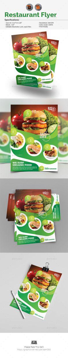 Health Food Flyer Template GreenFood Restaurant food, Flyer - food flyer template