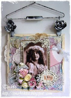 Card created by LLC DT Member Tina Kix, using papers from Maja Design's Vintage Summer Basics collection.