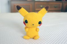 Pikachu Amigurumi - Patrón Gratis en Español aquí: http://www.crochetyamigurumis.com/peluche-pikachu/