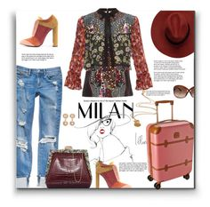 """""""Milan or bust"""" by fassionista ❤ liked on Polyvore featuring Mary Katrantzou, Rubeus, Garance Doré, Tom Ford, Bric's, Chanel and Mirabelle"""