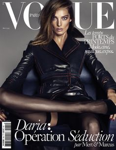 Daria Werbowy - Vogue Magazine Cover [Paris] (March 2015)