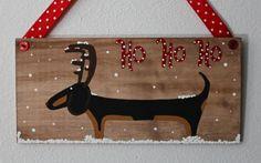 Dachshund Christmas Home Decor Rudolph the Red by MaxMinnieandMe, $15.00