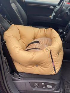 Custom Car Seats, Dog Car Seats, Bed Measurements, Cozy Bed, Pet Names, Dog Harness, Dog Design, Bean Bag Chair, Beige