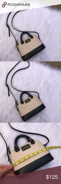 KATE SPADE LIKE NEW TINY CUTE EVENING BAG PURSE  CROSSBODY , measurements attached:) Kate spade leather purse super cute like new kate spade Bags