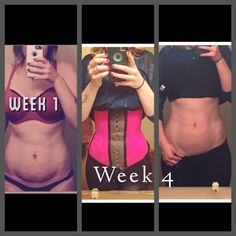 4 week results from using the KJCOUTURE FAJA (Waist Trainer)