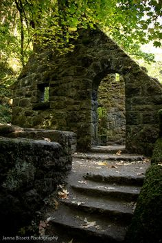 "Inside Forest Park, Wildwood Trail in Portland, Oregon there is an old stone brick house with no roof. Locals call it ""The Witches Castle. Oh The Places You'll Go, Places To Travel, Places To Visit, Travel Destinations, Haunted Places, Abandoned Places, Abandoned Castles, Abandoned Mansions, Foto Nature"