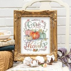 Give Thanks - Print #Fall #Fall-Halloween #Gifts