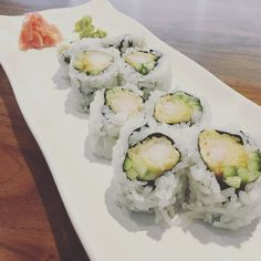 Sushi with extra ginger. Because life is a grand adventure and you might as well as spice it up with some new #tastes. #foodie #traveleats #nomnom