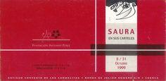 """""""Saura en sus carteles"""" exposición en la Fundación Antonio Pérez Cuenca Octubre 1999 #FundacionAntonioPerez #Cuenca #AntonioSaura"""