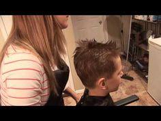 HOW TO CUT BOY'S HAIR // basic boys haircut // hair tutorial - YouTube