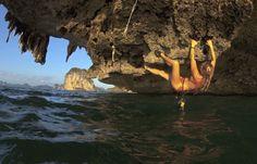 Women Rock Climbing | VentureThere - - Climbing and Deep-Water Soloing in Thailand