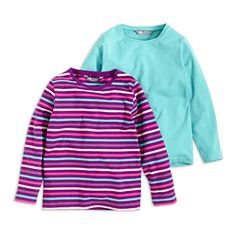 2-pack Long Sleeve Top Turquoise